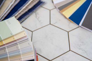 Interior Design materials tools for house decoration